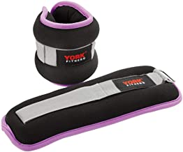 York Fitness YORK-60244 Ankle Weights - 2 x 1 kg