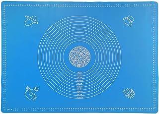Ealicere Grand 65x45 cm Tapis de Cuisson Silicone,Bleu Tapis de pâte à Rouler,Anti-adhésif Réutilisable Baking Mat Fondant...