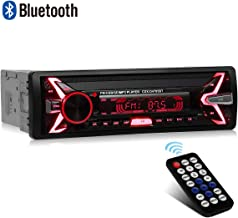 WesKimed Autoradio Bluetooth, 1 Din Radio de Voiture Audio, 7 Couleurs Stereo FM Radio..