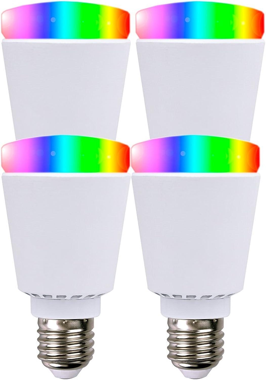 XQ-Lite 4er-Set Smart LED Bulb Glühbirne Blautooth, Farbwechsel, Stimmungslicht App-Steuerung; XQ1503