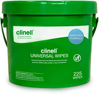 Clinell Universal Sanitising Wipes - Disinfectant Wipes - 225 Wipes