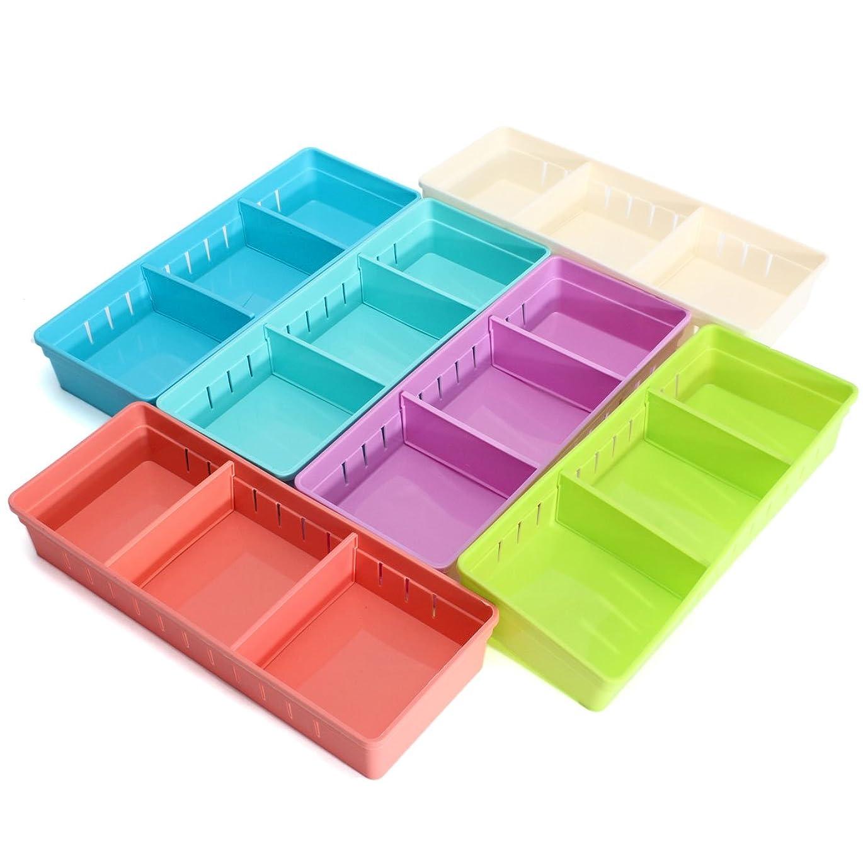 懇願するお酢伸ばすGUQQRZCT 調整可能なメイクアップ収納ボックス引き出しホームキッチンオフィスSupplie鉛筆ジュエリーオーガナイザー (Color : Color Yellow)
