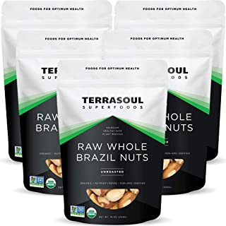 Terrasoul Superfoods Organic Brazil Nuts, 5 Lbs (5 Pack) - Raw | Unsalted | Rich in Selenium