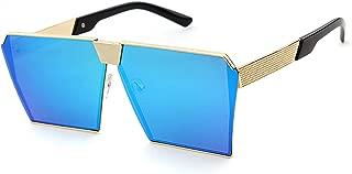 Square Sunglasses Women Men Steampunk Eyewares Metal Alloy Oversized Sunglasses GX8248