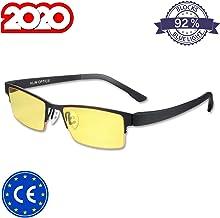 KLIM Optics Blue Light Blocking Glasses + Reduce Eye Strain and Fatigue + Gaming Glasses for PC Mobile TV + Blocks 92% Blue Light + Computer Glasses with UV Protection + New 2020 Version