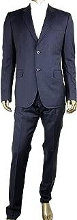 Gucci Men's Classic Stripe Black/Gray Wool Marseille 2 Button Suit 353238