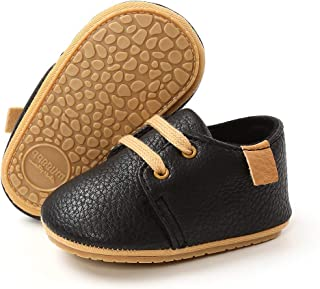 Methee Infant Baby Boys Girls Walking Shoes, Soft Sole Non-Slip First Walker Shoes Newborn Crib Shoes, Perfect for Baptis...
