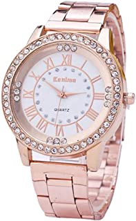 Luxury Watches for Women DYTA Ladies Crystal Rhinestone Wrist Watches with Stainless Steel Band Marble Strap