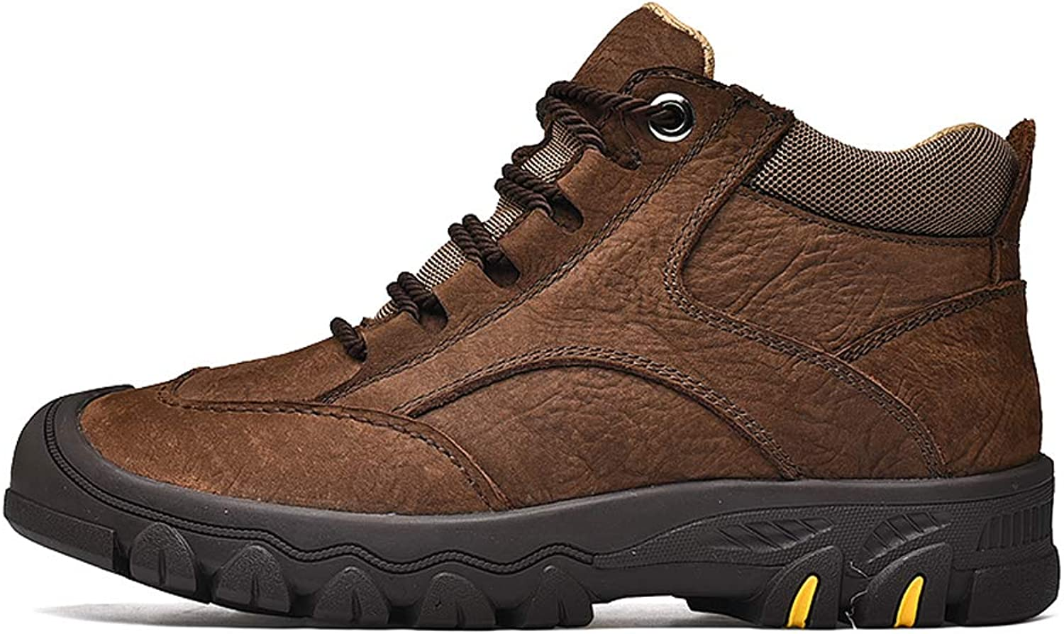 Men's Winter Plus Velvet Warm Leather Warm Outdoor Sports Waterproof Non-Slip Hiking shoes