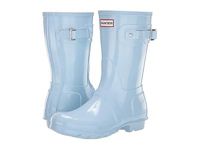Hunter Original Short Gloss Rain Boots (Boat Blue) Women