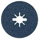 Bosch Professional Best - Discos de lija de fibra (para metales, X-LOCK, R574, diámetro115 mm, grano 36, diámetro del orificio: 22,23 mm)