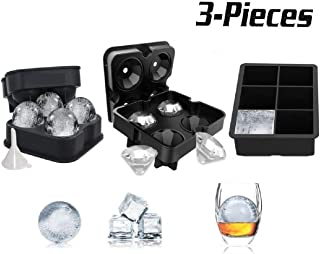 Eisw/ürfelformen und Eisw/ürfelschalen Ball Ice Ball Kugeln Whiskey Schimmel Maker TAHOME Kristallklare Ice Ball Maker