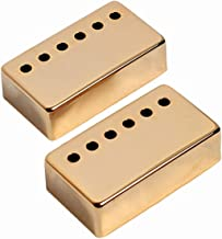 Musiclily 50MM Metal Humbucker Guitar Neck Pickup Covers for Electric Guitar, Gold(Pack of 2)