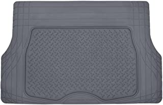 Motor Trend Heavy Duty Rubber Cargo Mat Trunk Liner for Car SUV Auto (Gray) - Odorless All Weather
