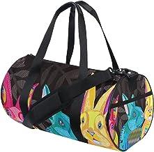 FANTAZIO Gym Duffel Bag Kleurrijke Leuke Konijnen Patroon Mens Gym Duffel Bag