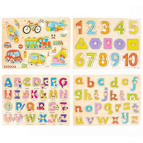 Juego De 4 Puzzle Madera - Alfabeto Abc