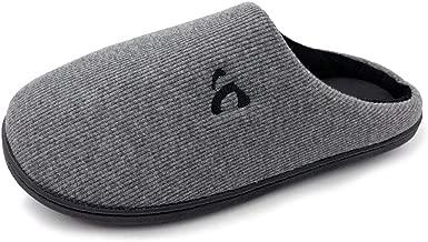 Amoji Unisex Memory Foam Slippers Slip On House Shoes