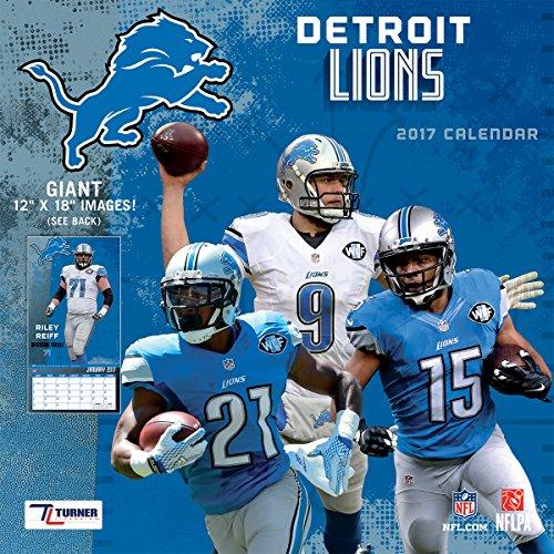 "Turner Licensing Sport 2017 Detroit Lions Team Wall Calendar, 12""X12"" (17998011909)"
