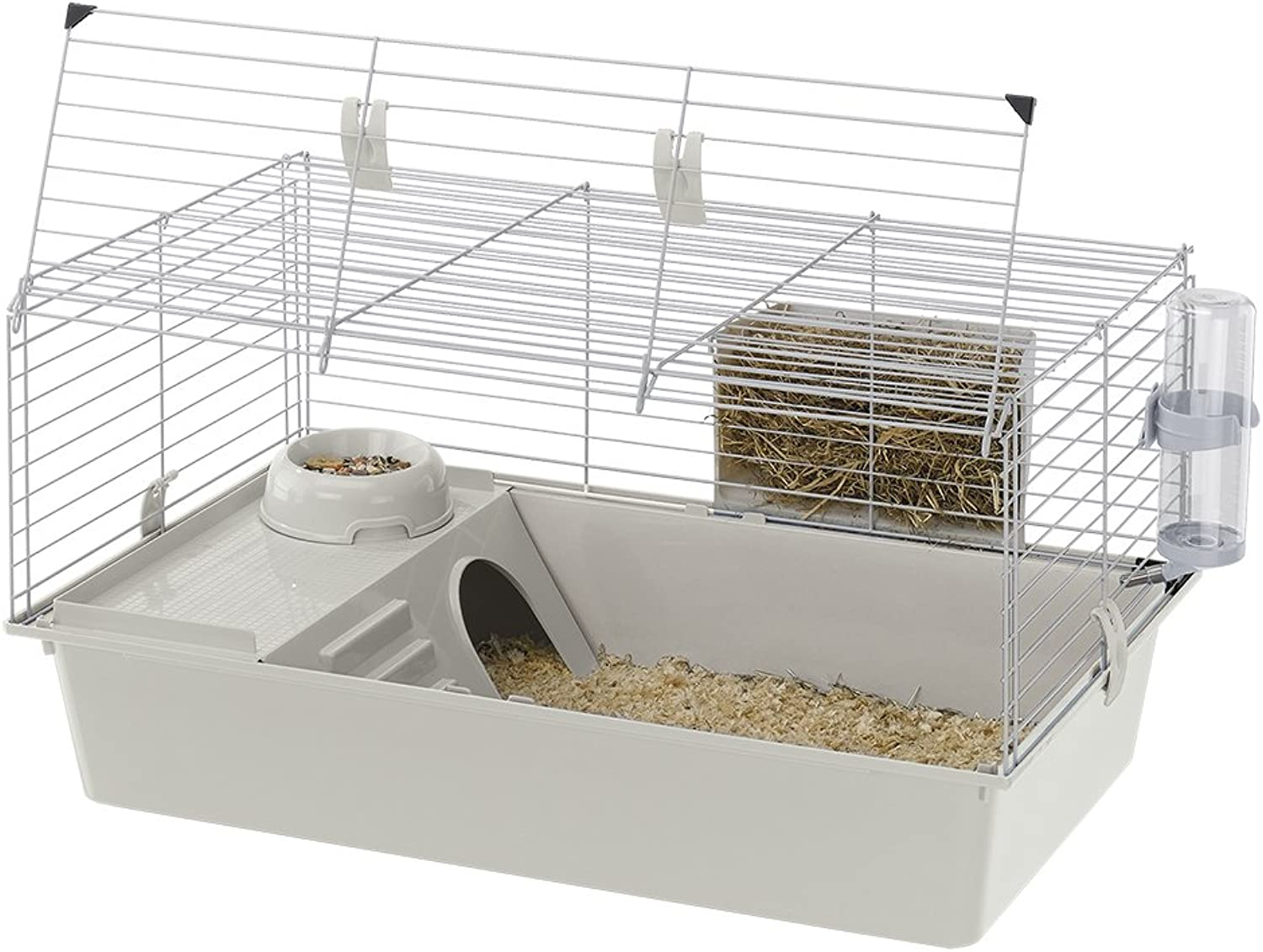 Ferplast CAGE CAVIE 80 Guinea Pig Cage, Safety Closing System, 30, 31x18, 9xH 16, 54Inch Grey