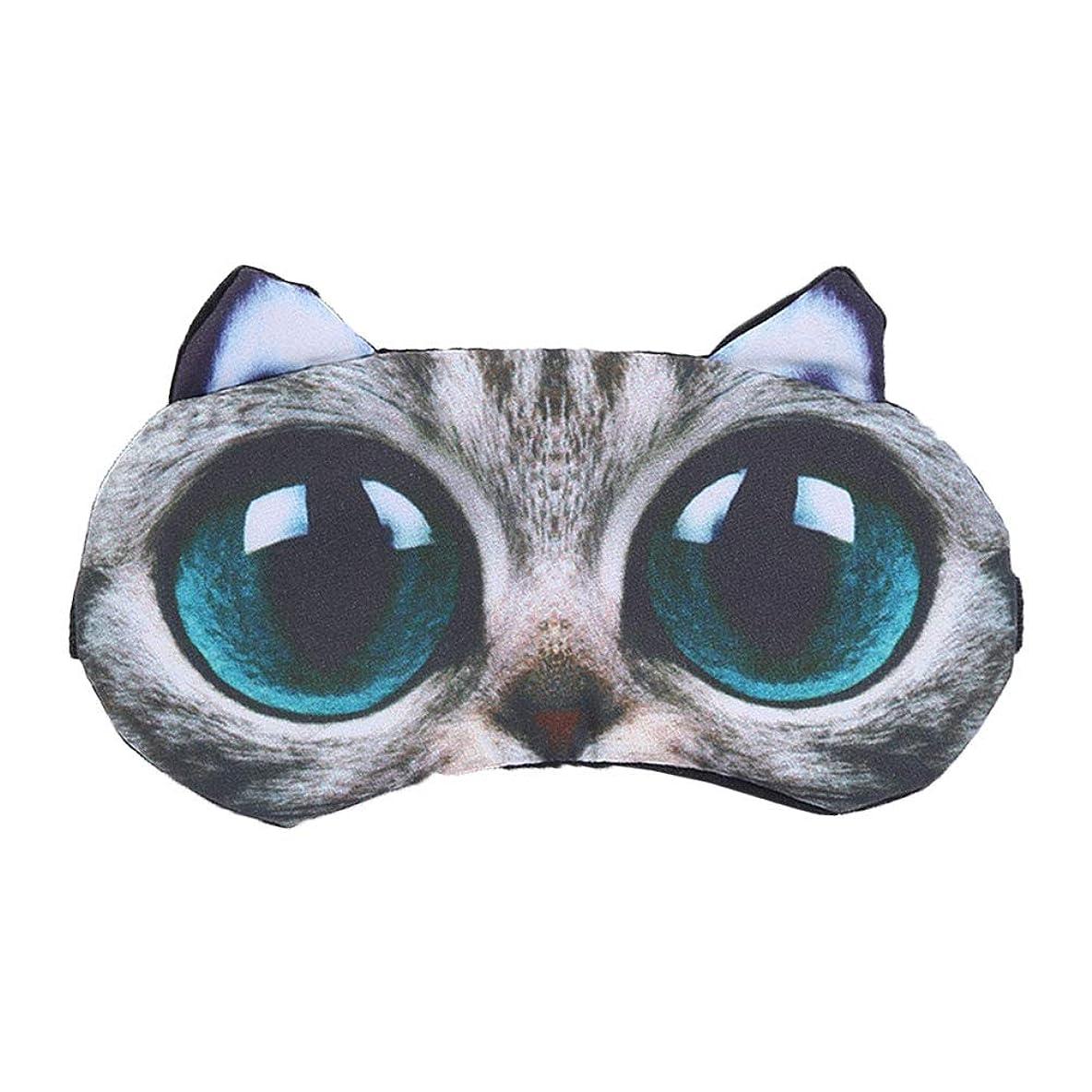 急降下ソブリケット合金ROSENICE 3Dの大きな目の猫は、旅行ホームの目隠しを目隠し冷却