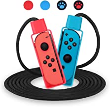 OBES Jump Rope Challenge for Nintendo Swith Exercise Games Adjustable Skipping Rope Compatible (10ft) with 4 pcs Joystick ...