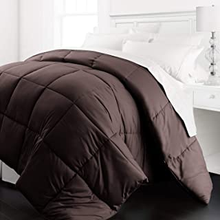 Beckham Hotel Collection - Lightweight All Season - Luxury Goose Down Alternative Comforter - Hotel Quality Comforter and Hypoallergenic  -King/Cali King - Chocolate