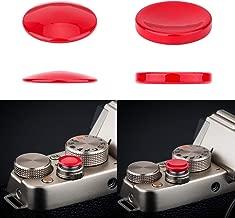 2X Camera Shutter Release Button Cap Sticker for Sony A6400 A6000 A6500 A6300 A5100 A7 A7S A7R RX100 VI VA V IV III II Fujifilm X-T1 XF10 X-T100 X-H1 X-A5 X-A3 X-A10 X-A20 Panasonic LX100II ZS200 Red