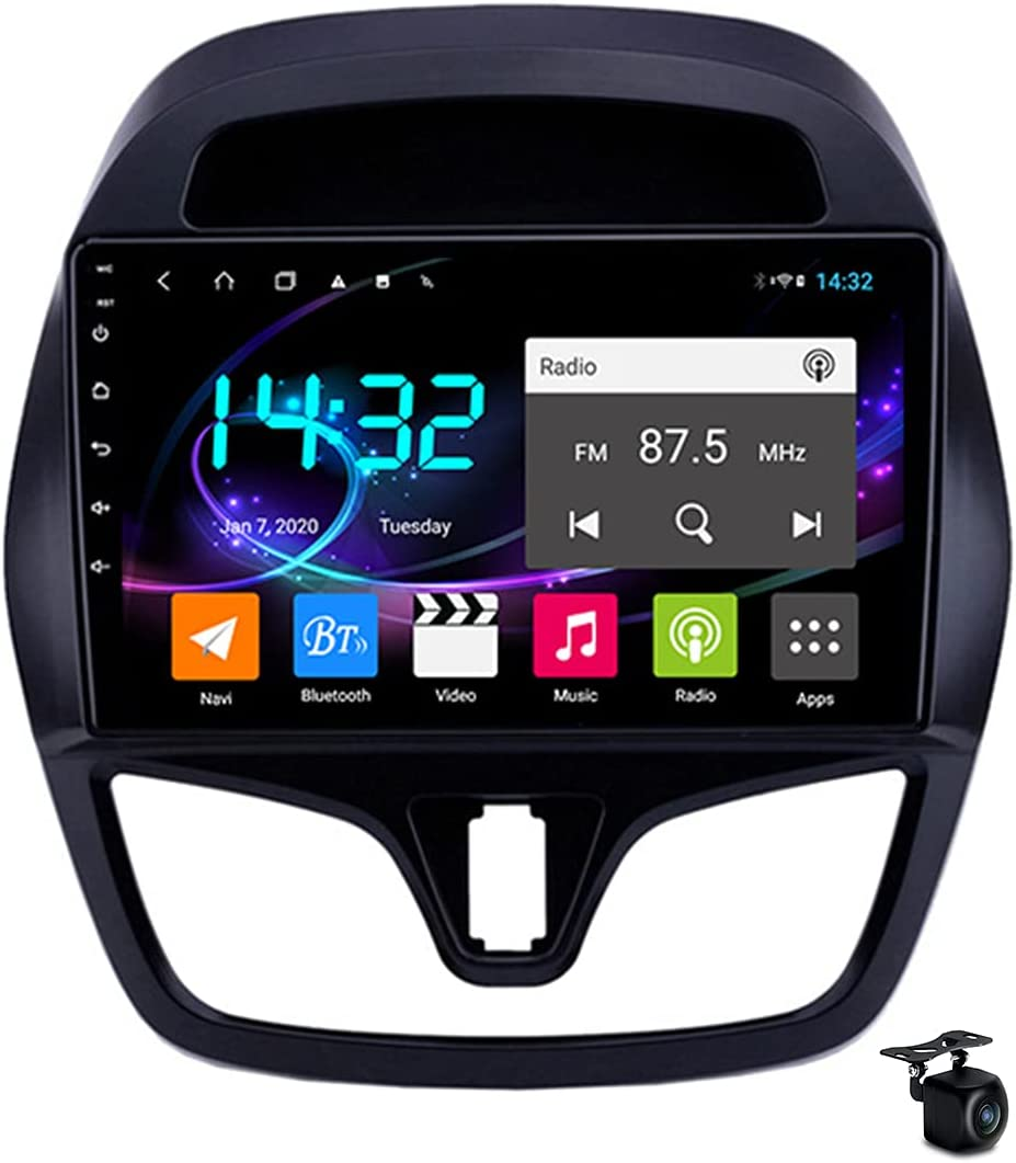 YCJB Sat Nav Android 10.0 Car Stereo Radio for Chevrolet Spark 2015-2018 GPS Navigation 9'' Headunit MP5 Multimedia Video Player Receiver with 4G 5G WiFi FM SWC Carplay,8core 4g WiFi 4+64gb