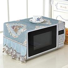HHYK Suministros Horno microondas Cubierta de Polvo a Prueba de Aceite Natural Material de protección Transpirable con Bolsa de Almacenamiento de Cocina (Color : 97x35cm Blue)