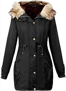 Women Coat Girls Christmas Warm Ladies Jacket Hooded Winter Long Coat Size Outwear by Neartime
