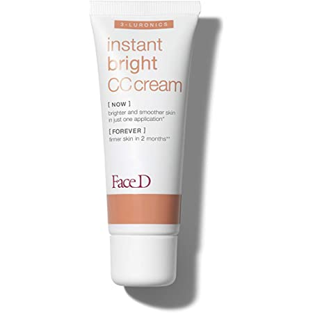 FaceD - CC Cream, Crema Corretrice del Colore con Acido Ialuronico e SPF 20, Medium, 40 ml