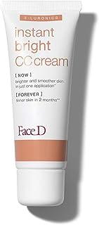 Face D - CC Cream, Crema Corretrice del Colore con Acido Ialuronico e SPF 20, Medium, 40 ml