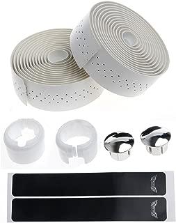 Cuawan Bike Cycling Road Bike Sports Handlebar Tape Faux Leather Wrap +2 Bar Plug