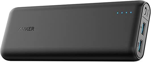 Anker PowerCore Speed 20000, 20000mAh Qualcomm Quick Charge 3.0 & PowerIQ Portable Charger, with Quick Charge Recharging, Power Bank for Samsung, iPhone, iPad and More (Renewed)
