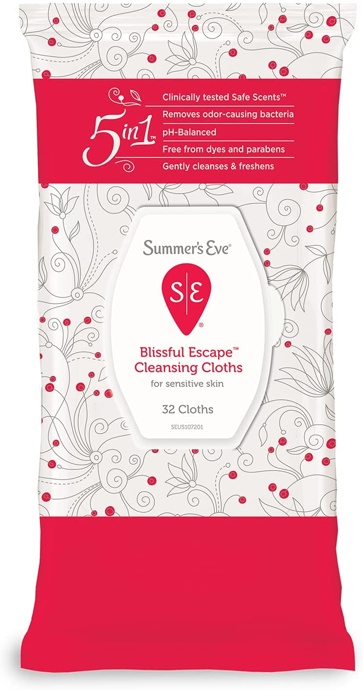 Summer's Eve Cleansing Cloths 32 Blissful Count Max 88% OFF New York Mall Escape