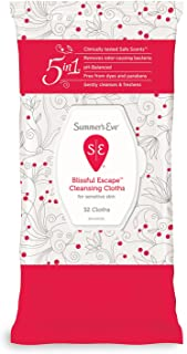 Summer's Eve Cleansing Cloths | Blissful Escape | pH-Balanced | 32 Count