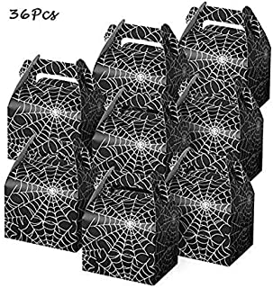 Morinostation Halloween Party Gift Favor Candy Boxes Cobweb Style Night Out Fun Favors Paper Bags for Halloween Kids Birthday Decorations Spider Birthday Party Supplies
