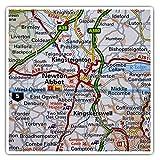 Impresionantes pegatinas cuadradas (juego de 2) 7,5 cm – Newton Abbot England Travel UK GB Fun Decals para portátiles, tabletas, equipaje, reserva de chatarras, neveras, regalo genial #45868