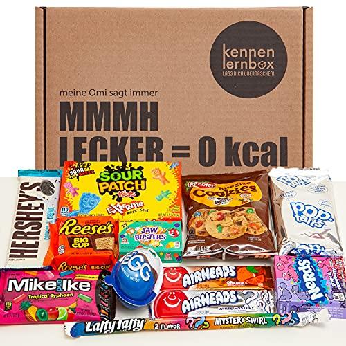 USA Box | Kennenlernbox mit 12 beliebten Süßigkeiten aus Amerika | Geschenkidee für besondere Anlässe