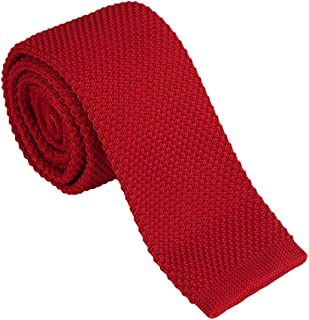 """Dan Smith Solid Men Skinny Knitted Ties 2"""" Casual Classic Knit Pre-Tied Bowties For Men Wedding Gift Various Colors"""