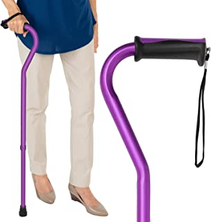 Vive Walking Cane - for Men & Women - Portable, Adjustable Offset Balance Stick - Lightweight & Sturdy Mobility Walker Aid for Arthritis, Elderly, Seniors & Handicap (Purple)