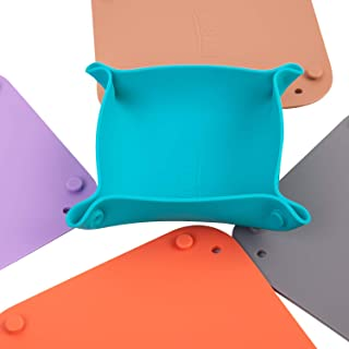 Gameland Folding Collapisble Table Board Game Bits Bowl Silicone Tray Set of 5 Macaroon Color