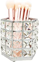 JIARI Makeup Brush Holder Organizer Crystal Hexagon Cup Comb Brushes Pen Collection Cosmetic Storage (Silver Hexagon)