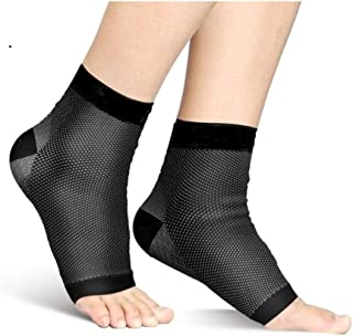 Compression Foot Sleeve Socks for Plantar Fasciitis, Ankle Support, Heel Pain, Everyday Use, Outdoor Activities & Sports (LG/XL)