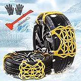 Qfun Catene da Neve Universali, Snow Chains 205 55 r16/catene da Neve 205 60 r16 Catene Invernali Catene per Pneumatici, Neve, Fango, Sabbia, Adatto per Auto SUV Camion