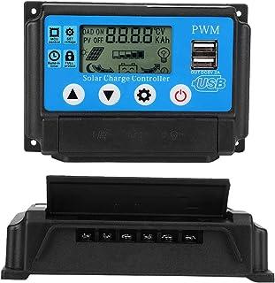 YJSS-10A Nikou Solarladeregler PWM 12V 24V Dual USB Solarpanel Laderegler Regler LCD-Anzeige 10//20//30A