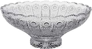BOHEMIAN CRYSTAL GLASS BOWL-VASE 12