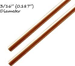 """Copper Rod 3/16"""" (0.187"""