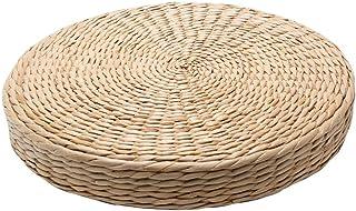 Cojín de hierba tejida, hecho a mano, ecológico, acolchado, de punto, de paja, cojín plano, cojín para asiento de suelo, cojín de meditación, cojín de pie