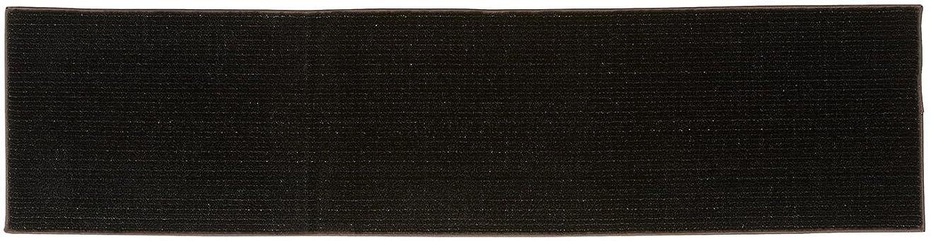 腹部解読するパースブラックボロウ山崎産業 キッチンマット レイル ブラック 45x180cm